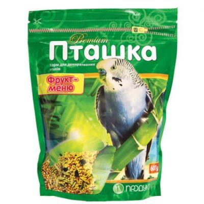 """Пташка """"Фрукт-меню"""" 600 г, корм для декоративных птиц, Продукт"""