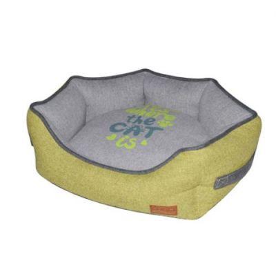 Диван для животного Family, желтый/серый 50*40*17 см CROCI