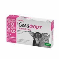 Селафорт для котов и собак №1 15 мг/0,25 мл Спот Он (до 2.5 кг) КРКА 1 пипетка
