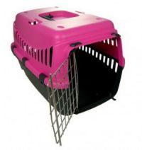 Переноска GIPSY 1 small Pink розовая 44*28.5*29.5h металлическая дверь