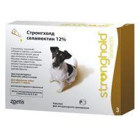 Стронгхолд (Stronghold) капли от внешних и внутренних паразитов для собак весом от 5,1 до 10 кг, 0,5 мл