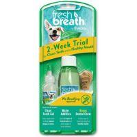 """Тропиклин Набор для чистки зубов у собак """"Чистые зубки """" (гель + добавка в воду) Tropiclean"""