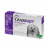 Селафорт для собак №1 30 мг/0,25 мл Спот Он (от 2,6-5 кг) КРКА 1 пипетка