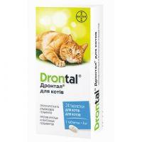 Drontal Дронтал антигельминтик для кошек 1 таблетка