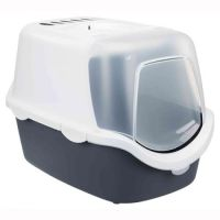 TRIXIE Трикси туалет-домик д/кота Vico Open Top, сине-серый/белый TX-40342