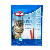Трикси Палочки для котов TRIXIE - Quadro-Sticks лосось+форель, 5шт TRIXIE TX-42725