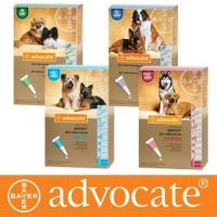 Адвокат (Advocate) от блох для собак весом до 4 кг, 4 -10 кг, 10 - 25 кг, 25 - 40 кг- 1 пипетка