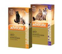 Адвокат (Advocate) от блох для котов весом до 4 кг, 4 - 8 кг- 1 пипетка