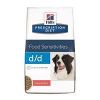 Hill`s PD Canine d/d (with Salmon and Rice) - Хиллс лечебная диета для собак при аллергии (сухой корм с уткой и рисом) 2 кг; 12 кг