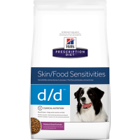 Hill`s PD Canine d/d (with Duck and Rice) - Хиллс лечебная диета для собак при аллергии (сухой корм с уткой и рисом) 2 кг; 12 кг