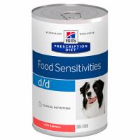 HILL'S PRESCRIPTION DIET d/d Food Sensitives Влажный Корм для собак с лососем- 370 г