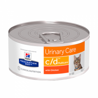 Hills PRESCRIPTION DIET c/d Multicare Влажный корм для кошек с курицей-156 г
