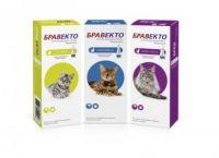 BRAVECTO (Бравекто) SPOT-ON (СПОТ-ОН) капли от блох и клещей для кошек 2,8 - 6,25 кг.
