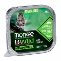 MONGE BWILD WET CAT Sterilised кабан с овощами 100 г