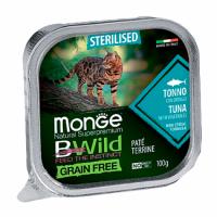 MONGE BWILD WET CAT Sterilised тунец с овощами 100 г