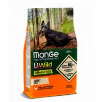 MONGE Dog BWild GRAIN FREE Adult Mini, DUCK - Монже беззерновой с уткой для взрослых мелких собак сухой корм 2,5 кг; 15 кг