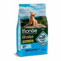 MONGE Dog BWild GRAIN FREE Adult Mini, ANCHOVY - Монже беззерновой с анчоусом для взрослых мелких собак сухой корм 2,5 кг; 15 кг