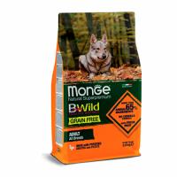 MONGE Dog BWild GRAIN FREE Adult All Breeds, DUCK - Монже беззерновой с уткой для взрослых собак собак всех пород сухой корм 2,5 кг; 15 кг