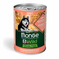 Monge Dog BWild Adult - лосось, тыква и цукини  400 г банка