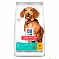 Hill's SP Canine Perfect Weight Small and Mini (up to 10 kg) Adult 1+ (with Chicken) - Хиллс повседневный корм для миниатюрных и маленьких (до 10 кг) собак с 1 года для поддержания оптимального веса (сухой корм с курицей) 1,5 кг