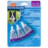 Hartz Ultra Guard Капли от блох, клещей, комаров для собак и щенков 14-27 кг 1 пипетка