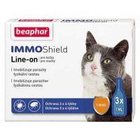 Immo Shield Иммо Шилд капли от блох и клещей для котов Беафар 1 амп
