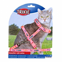 TRIXIE Трикси шлея с поводком для кота (нейлон) ТХ-4209