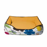 Диван для животного Cozy Flo, прямоугольный, оранж/цветы 60*50*20 см CROCI