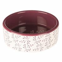 Трикси миска (керамика) 0,3 л/12 см, белый/ягодный, ТХ-25123