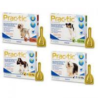 Прак-тик (Prac-tic) капли от клещей для собак весом 2- 4,5 кг, 4,5 - 11 кг, 11 - 22 кг, 22 - 50 кг