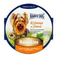 Happy Dog паштет для собак курица и утка 85 гр