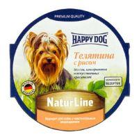 Happy Dog паштет для собак телятина с рисом 85 гр