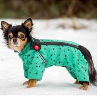"""Комбинезон для собак """"TM DIEGO"""" Диего Snow F 1/3 зеленый"""