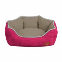 Диван для животного Cozy Fuxia,овальный, розово-серый 60*50*20 см CROCI