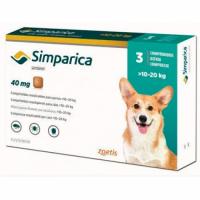 Simparica (Симпарика) таблетки от блох и клещей для собак весом от 10 - 20 кг