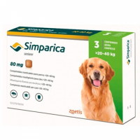 Simparica (Симпарика) таблетки от блох и клещей для собак весом от 20 - 40 кг
