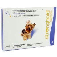 Стронгхолд (Stronghold) капли от внешних и внутренних паразитов для собак весом от 2,6 до 5 кг, 0,25 мл